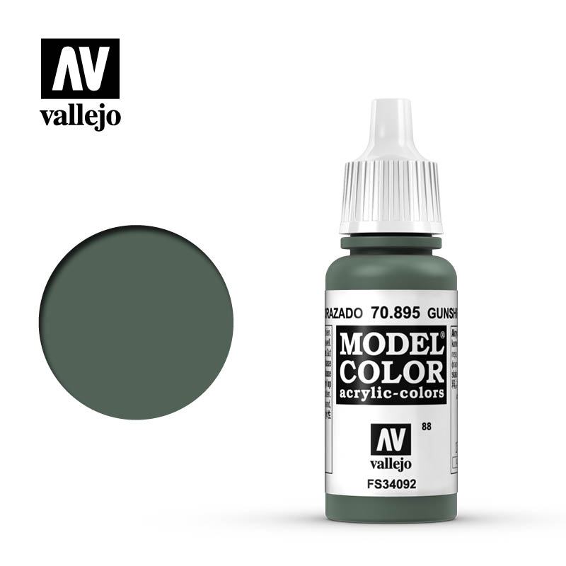 Vallejo 17ml Model Color - Gunship Green acrylic paint # 895