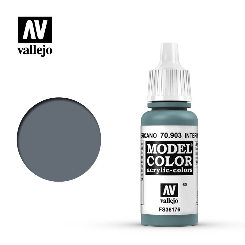 Vallejo 17ml Model Color - Intermediate Blue acrylic paint # 903