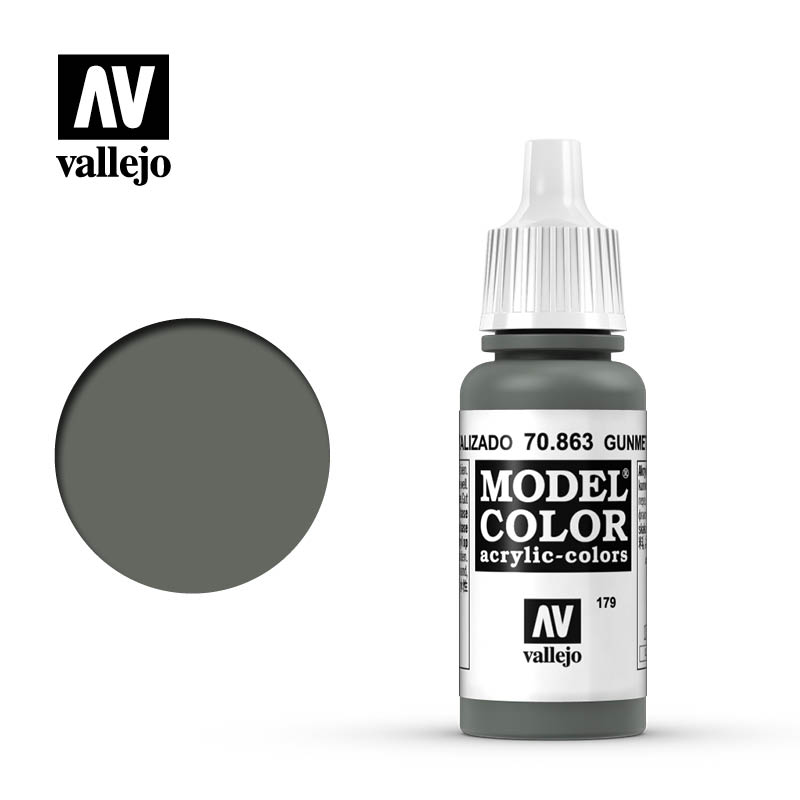 Vallejo 17ml Model Color - Metallic Gunmetal Grey acrylic paint