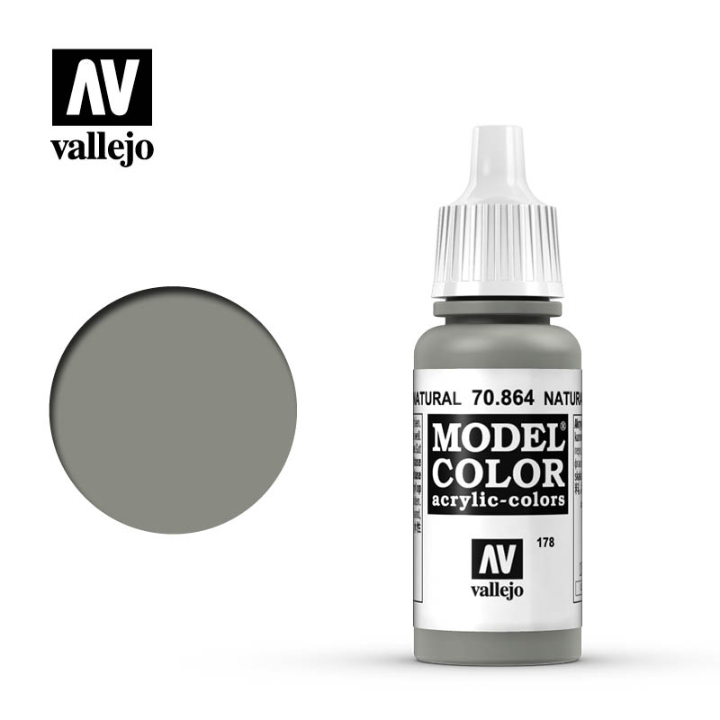 Vallejo 17ml Model Color - Metallic Natural Steel acrylic paint