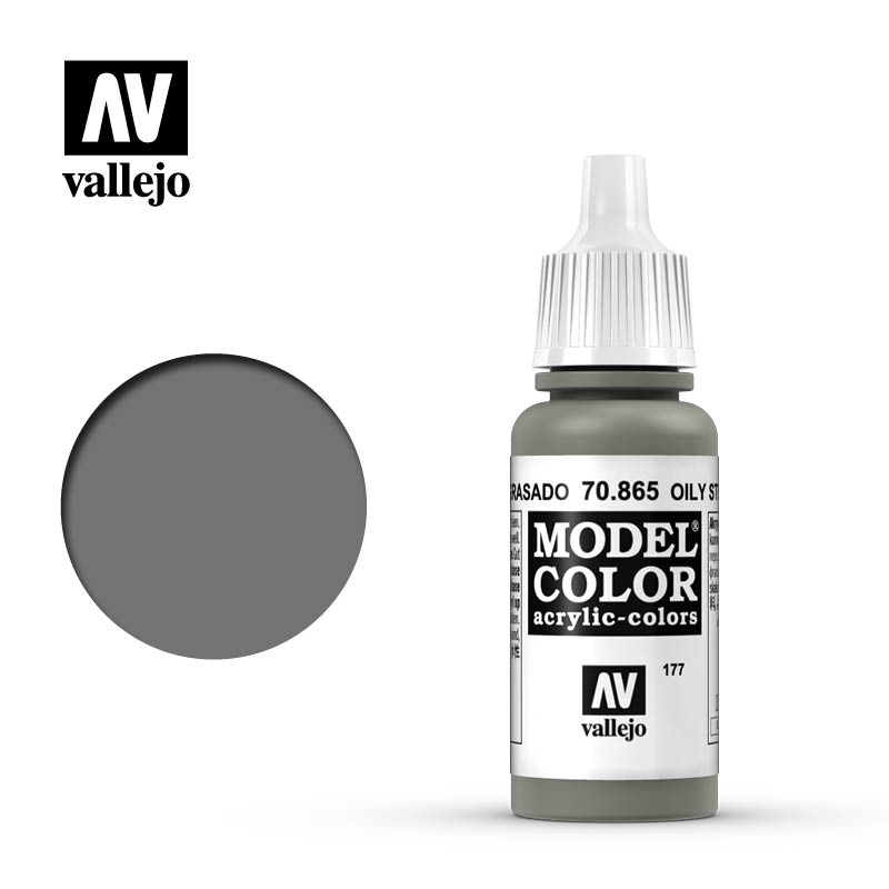 Vallejo 17ml Model Color - Metallic Oily Steel acrylic paint # 8