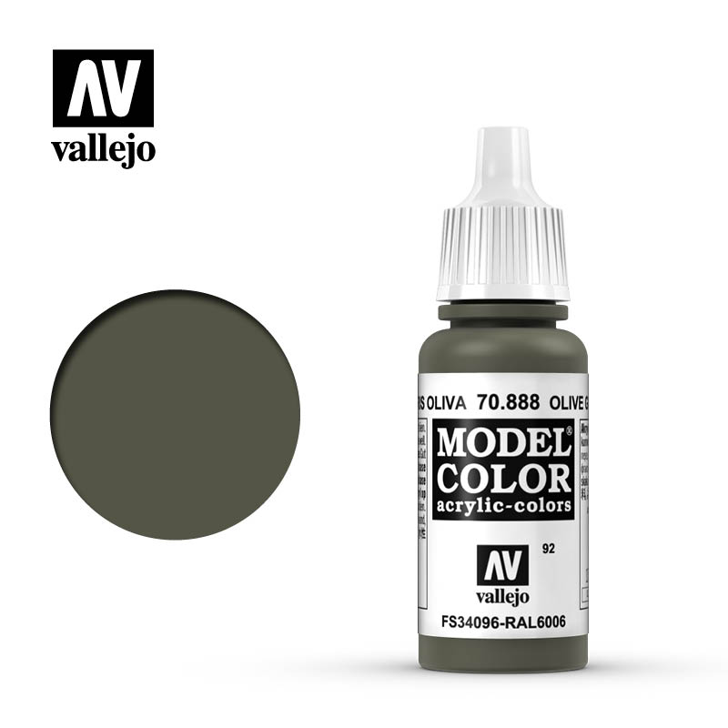 Vallejo 17ml Model Color - Olive Grey acrylic paint # 888