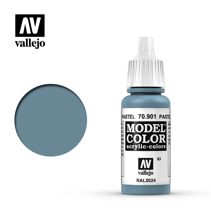 Vallejo 17ml Model Color - Pastel Blue acrylic paint # 901