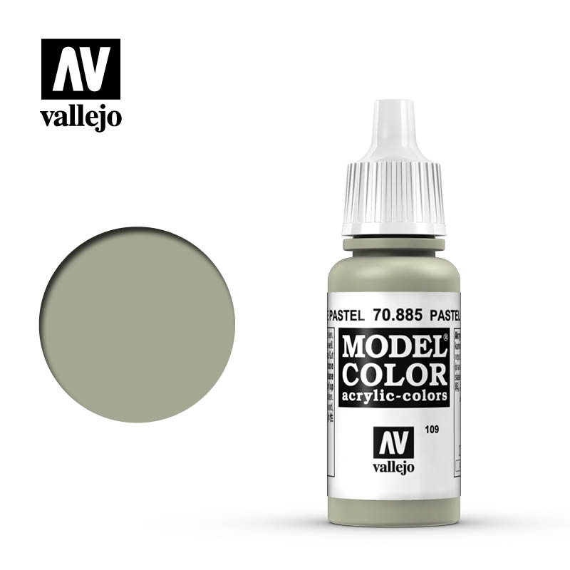Vallejo 17ml Model Color - Pastel Green acrylic paint # 885