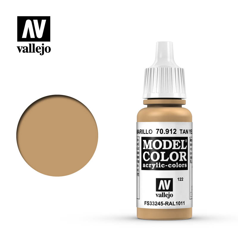 Vallejo 17ml Model Color - Tan Yellow acrylic paint # 912