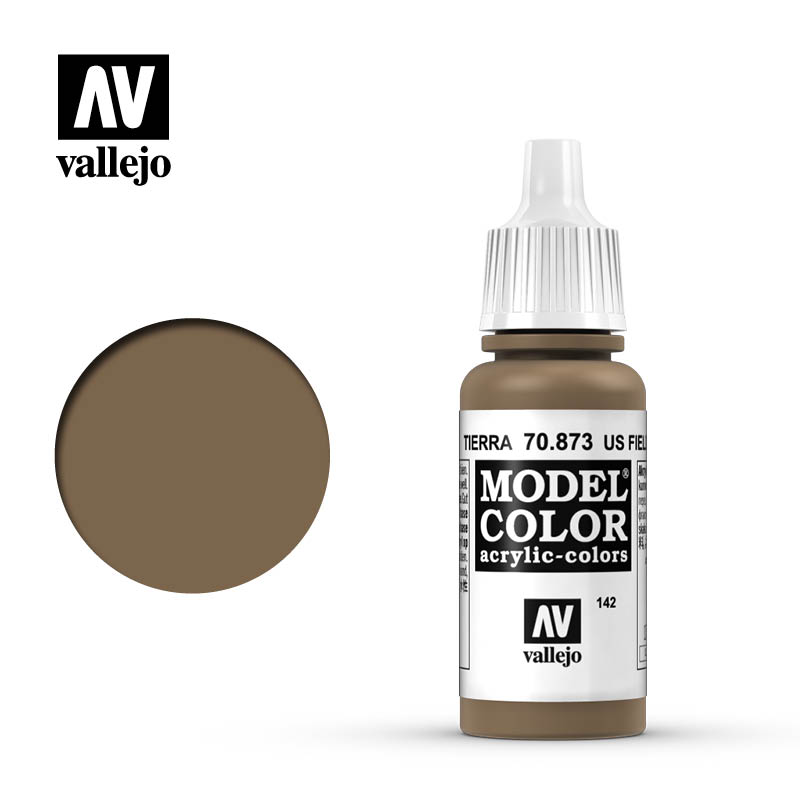Vallejo 17ml Model Color - US Field Drab acrylic paint # 873