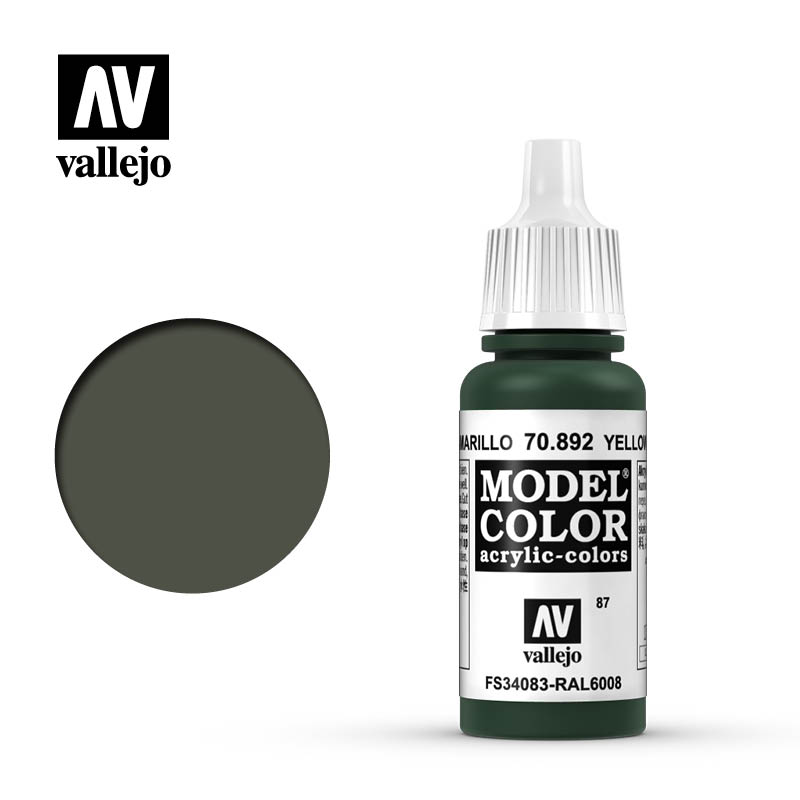 Vallejo 17ml Model Color - Yellow Olive acrylic paint # 892