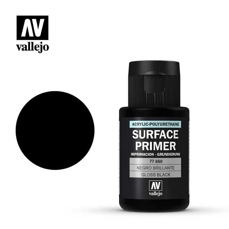 Vallejo 32ml Gloss Black Surface Primer # 77660