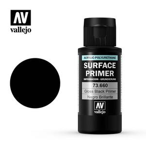 Vallejo 60ml Gloss Black Surface Primer # 73660