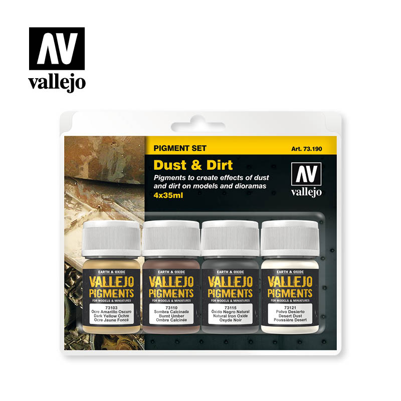 Vallejo Dust and Dirt Pigment Set # 73190
