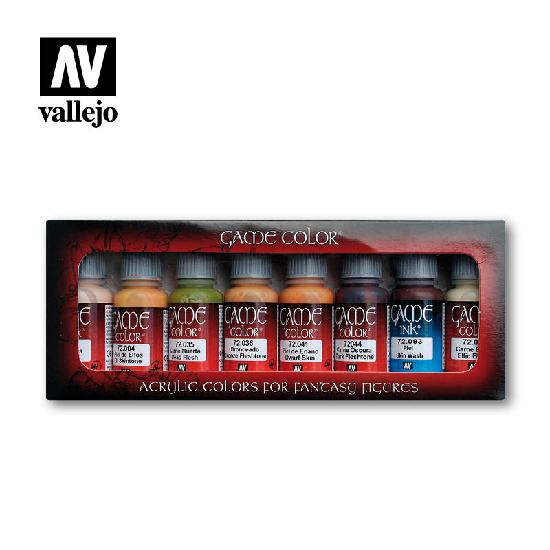 Vallejo Game Color - Skintones Paint Set # 72295