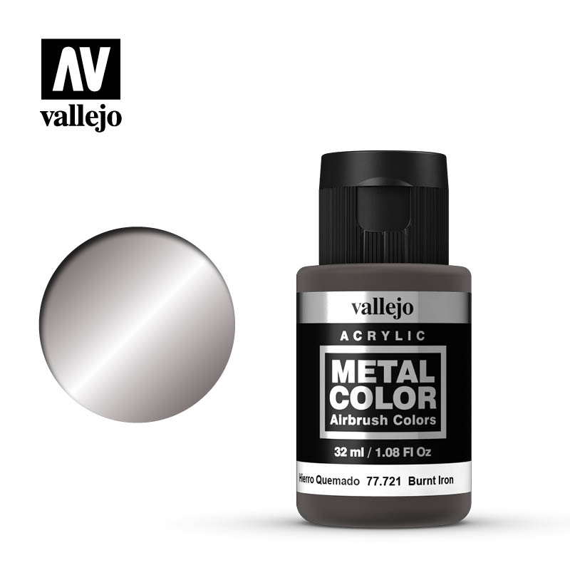 Vallejo Metal Color 32ml Burnt Iron # 77721