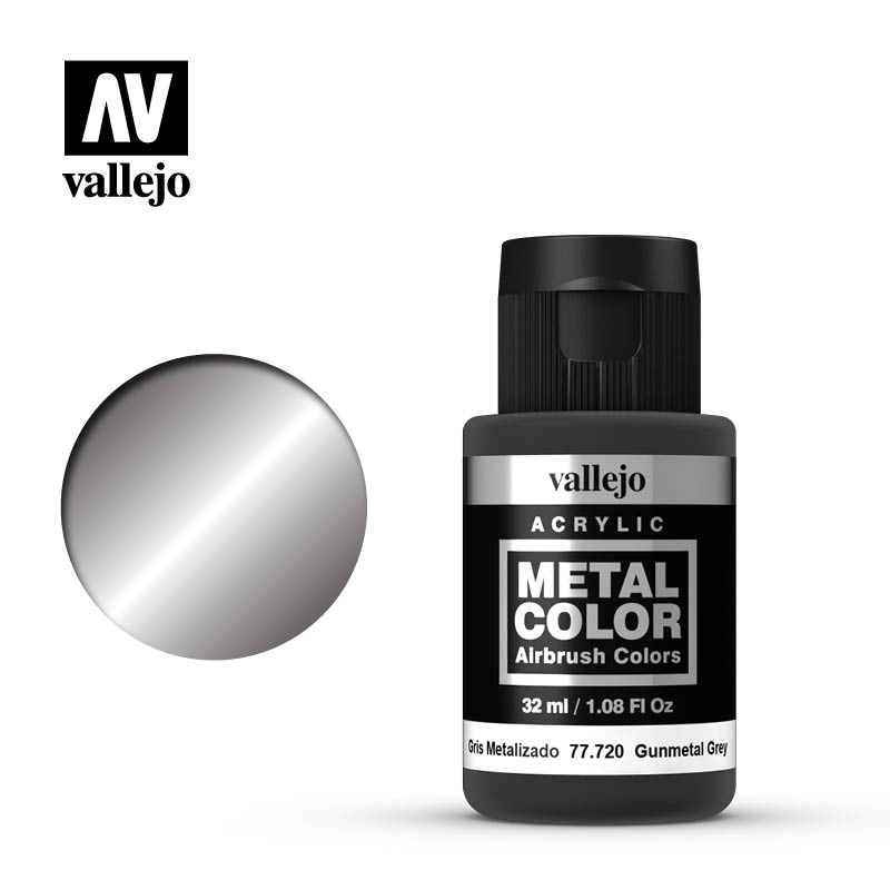 Vallejo Metal Color 32ml Gunmetal Grey # 77720