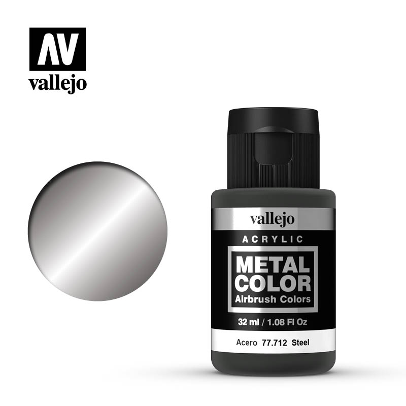 Vallejo Metal Color 32ml Steel # 77712