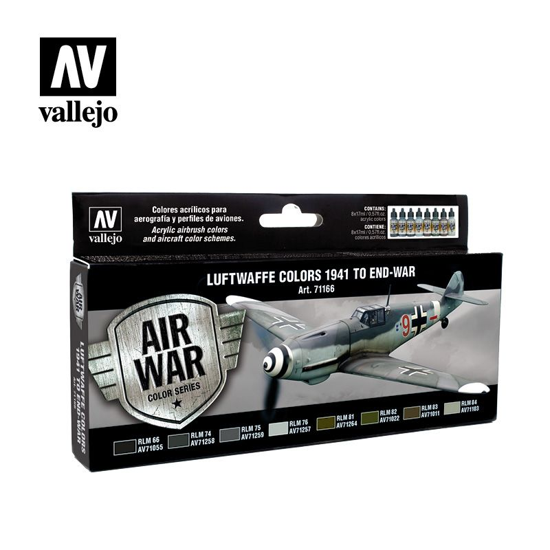 Vallejo Model Air - Luftwaffe Colors 1941 to End-War Paint Set #
