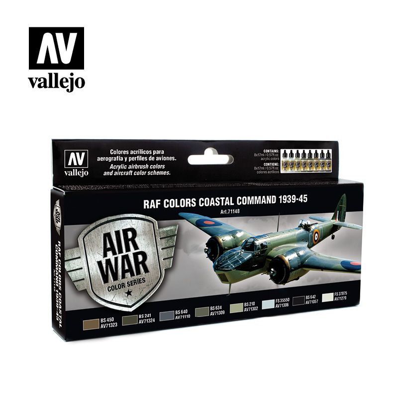 Vallejo Model Air - RAF Colors Coastal Command 1939-45 Paint Set
