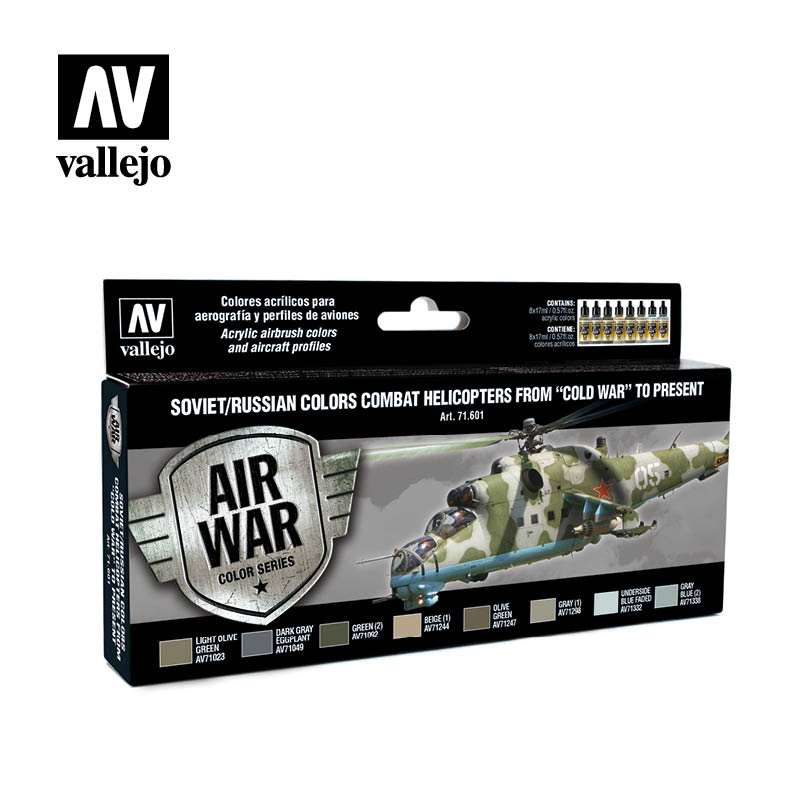 Vallejo Model Air - Soviet Helicopters Post War Acrylic Paint Set # 71601