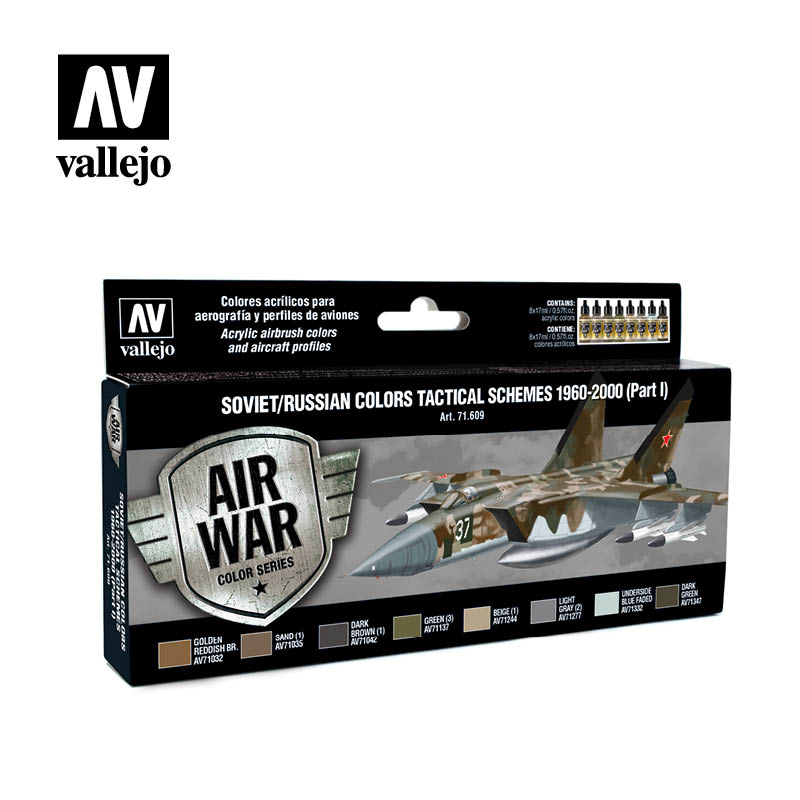 Vallejo Model Air - Soviet Tactical Schemes 1960-2000 (Part I) Acrylic Paint Set # 71609