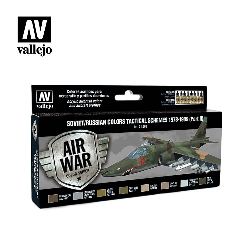 Vallejo Model Air - Soviet Tactical Schemes 1978-1989 (Part II) Acrylic Paint Set # 71608