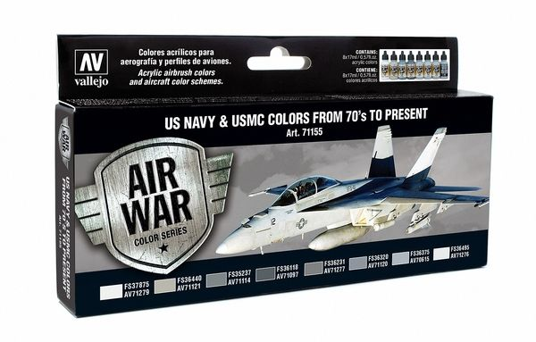 Vallejo Model Air - US Navy & USMC Colors from 70's to Present P