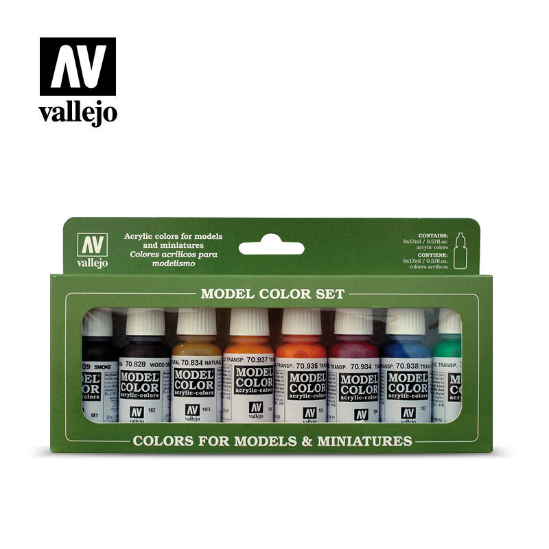 Vallejo Model Color Set - Transparent Colours # 70136