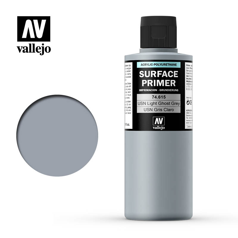 Vallejo Polyurethane 200ml USN Light Ghost Grey FS36375 Primer # 74615