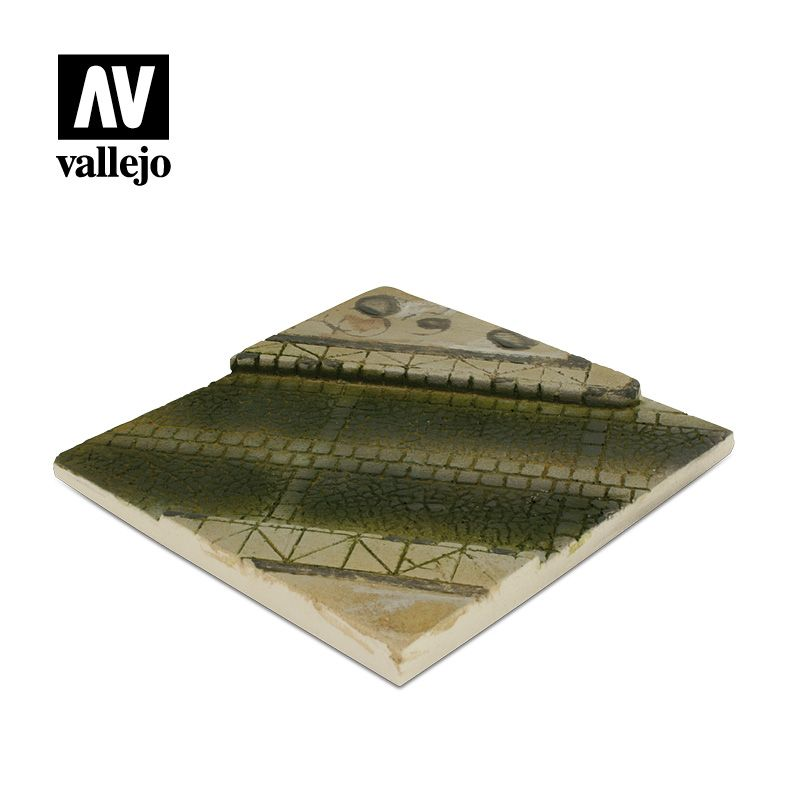 Vallejo Scenics - 14cm x 14cm Paved Street Section (Unpainted) # SC001