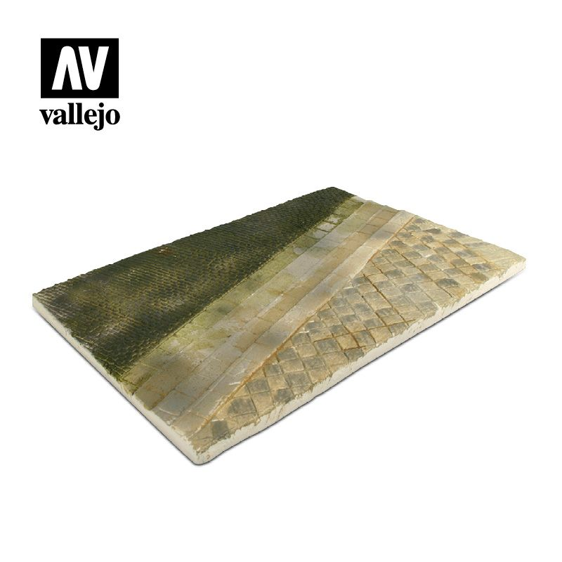 Vallejo Scenics - 31cm x 21cm Paved Street Section (Unpainted) # SC101