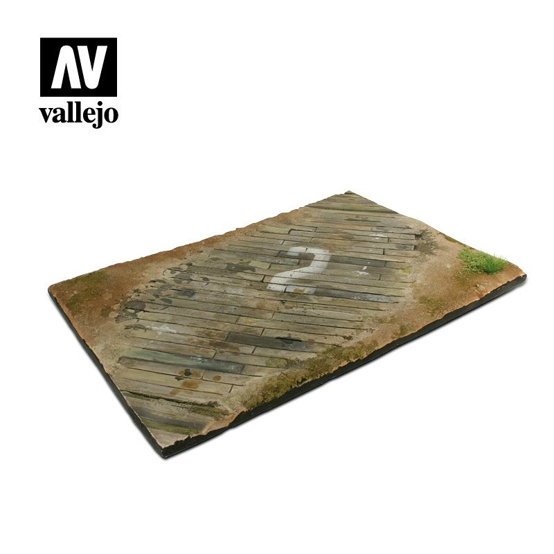 Vallejo Scenics - 31cm x 21cm Wooden Airfield Section (Unpainted) # SC102