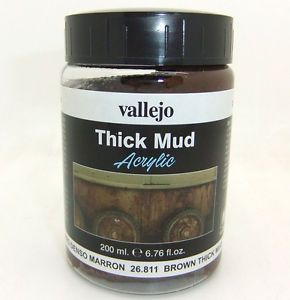 Vallejo Weathering Effects 200ml Brown Thick Mud # 26811