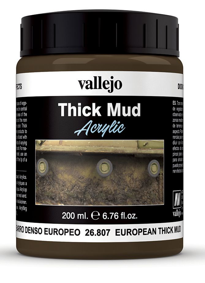 Vallejo Weathering Effects 200ml European Thick Mud # 26807