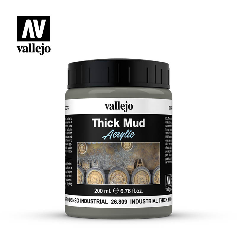 Vallejo Weathering Effects 200ml Industrial Thick Mud # 26809