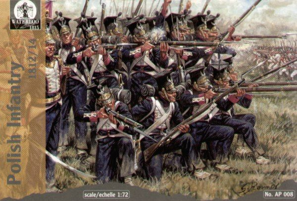 Waterloo 1/72 Napoleonic Polish Infantry # AP008