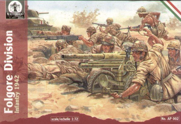 Waterloo 1/72 WWII Italian Folgore Division Infantry # AP002