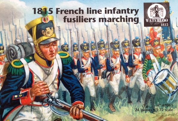 Waterloo 1815 1/72 1815 French Line Infantry Fusiliers Marching # AP061