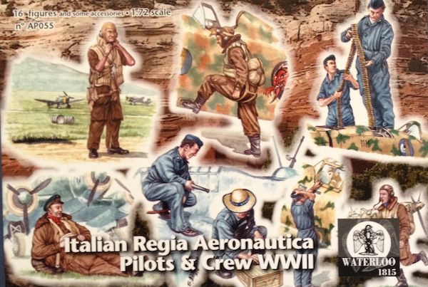 Waterloo 1815 1/72 Italian Regia Aeronautica Pilots and Ground Grew (WWII) # AP055