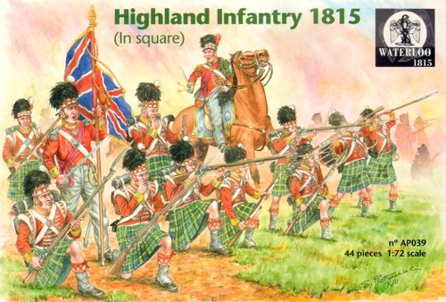 Waterloo 1815 1/72 Napoleonic Highland Infantry 1815 (in Square) # AP039