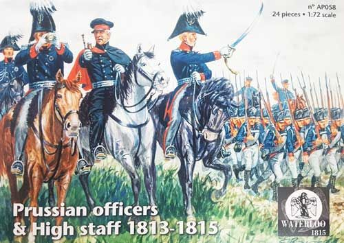 Waterloo 1815 1/72 Prussian Officers & High Staff 1813-1815 # AP058