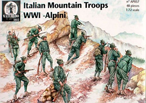 Waterloo 1815 1/72 WWI Alpini Italian Mountain Troops # AP057