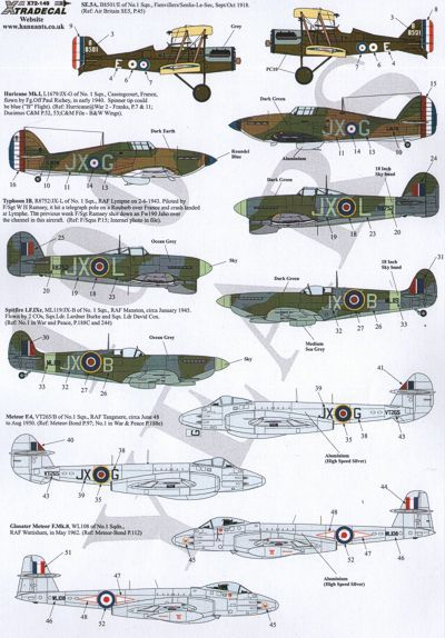 Xtradecal 1/72 RAF No. 1 Squadron 100 Years # 72149