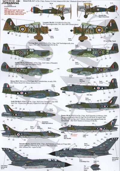 Xtradecal 1/72 RAF No. 2 Squadron 100 Years # 72150