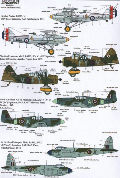 Xtradecal 1/72 The History of 4 Squadron # 72148