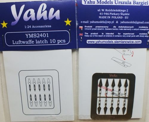 Yahu Models 1/24 Luftwaffe latches x 10 # YMS2401