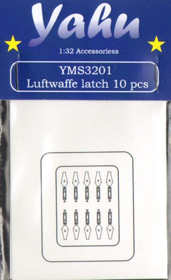 Yahu Models 1/32 Luftwaffe latch 10 pcs # YMS3201
