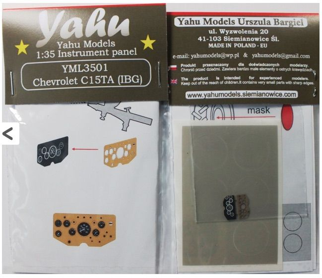 Yahu Models 1/35 Chevrolet C15TA Light Reconnaissance Vehicle Panel # YML3501