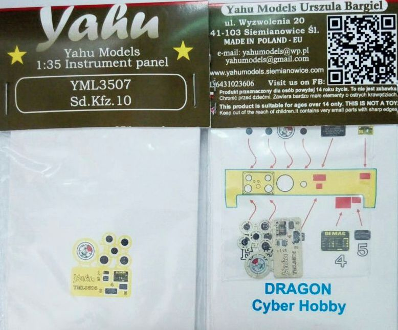 Yahu Models 1/35 German Sd.Kfz.10 # YML3507