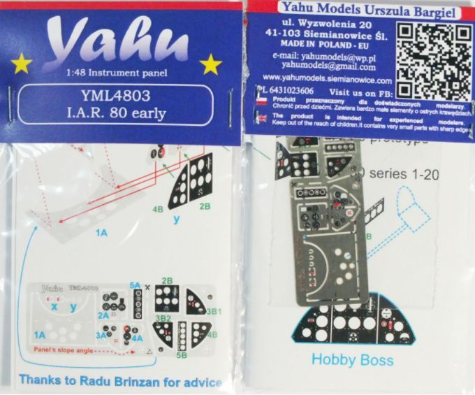 Yahu Models 1/48 IAR IAR-80 Early # YML4803