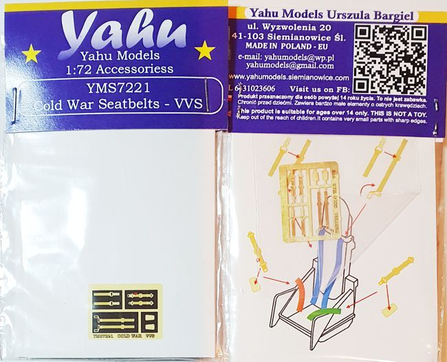 Yahu Models 1/72 Cold War Seatbelts - VVS # YMS7221