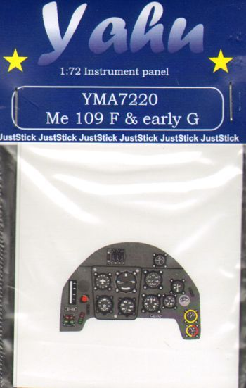 Yahu Models 1/72 Me Bf-109F & Bf-109G Early Photoetched instrument panels # YMA7220