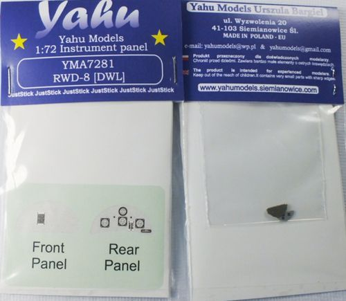 Yahu Models 1/72 RWD-8 DWL Photoetched Instrument Panels # YMA7281